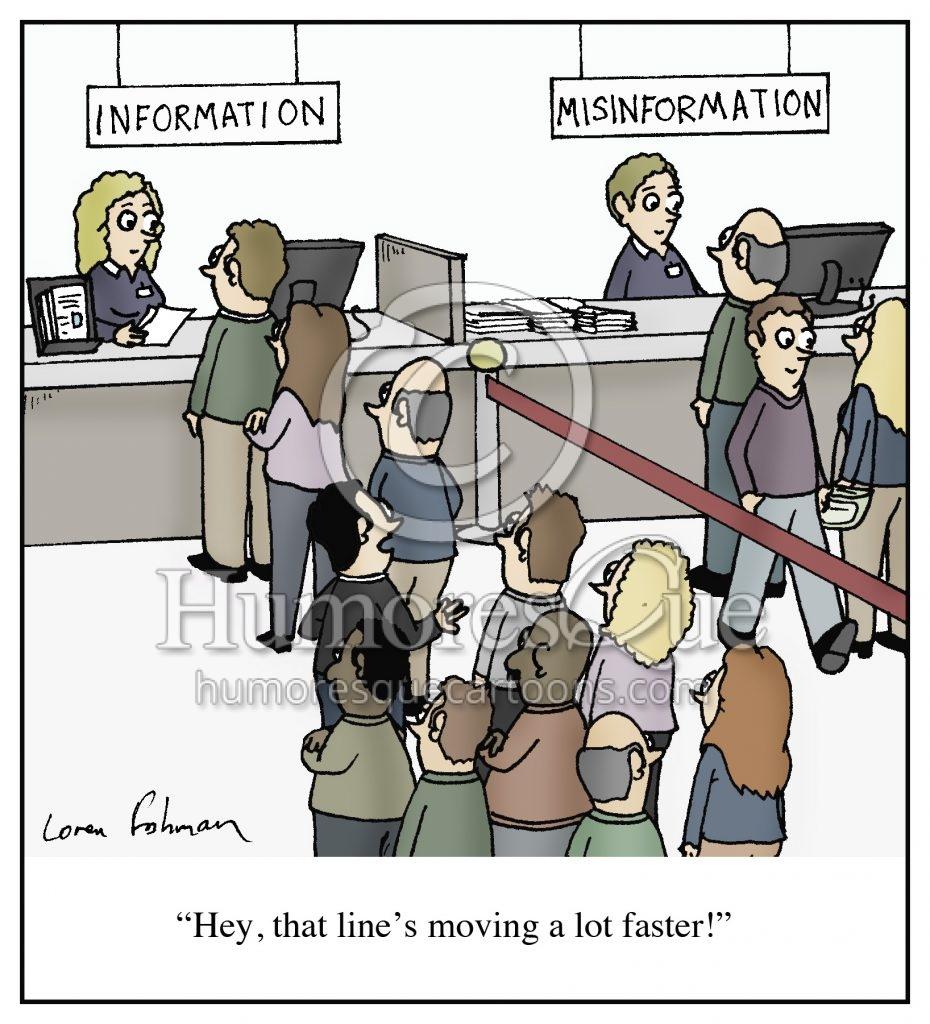 misinformation fake news media cartoon