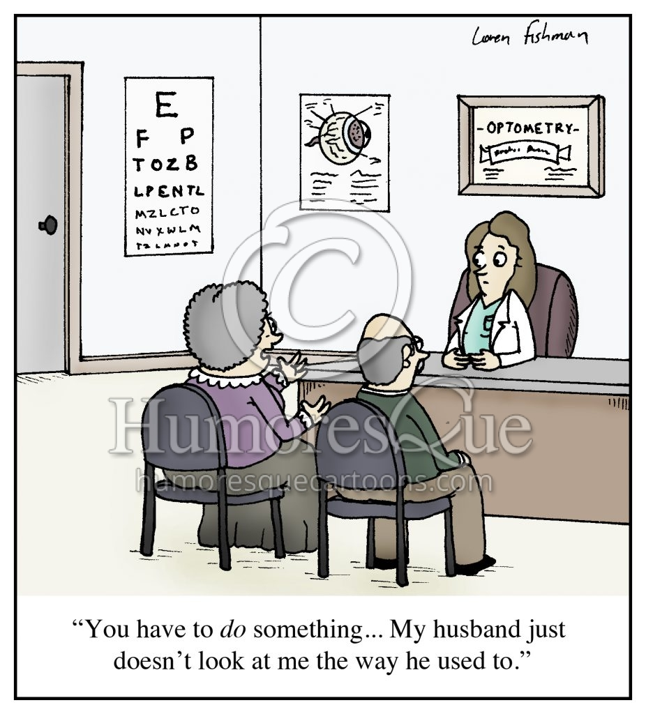 optometry marriage cartoon