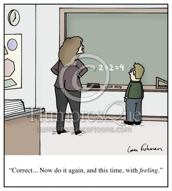 teaching with feeling cartoon