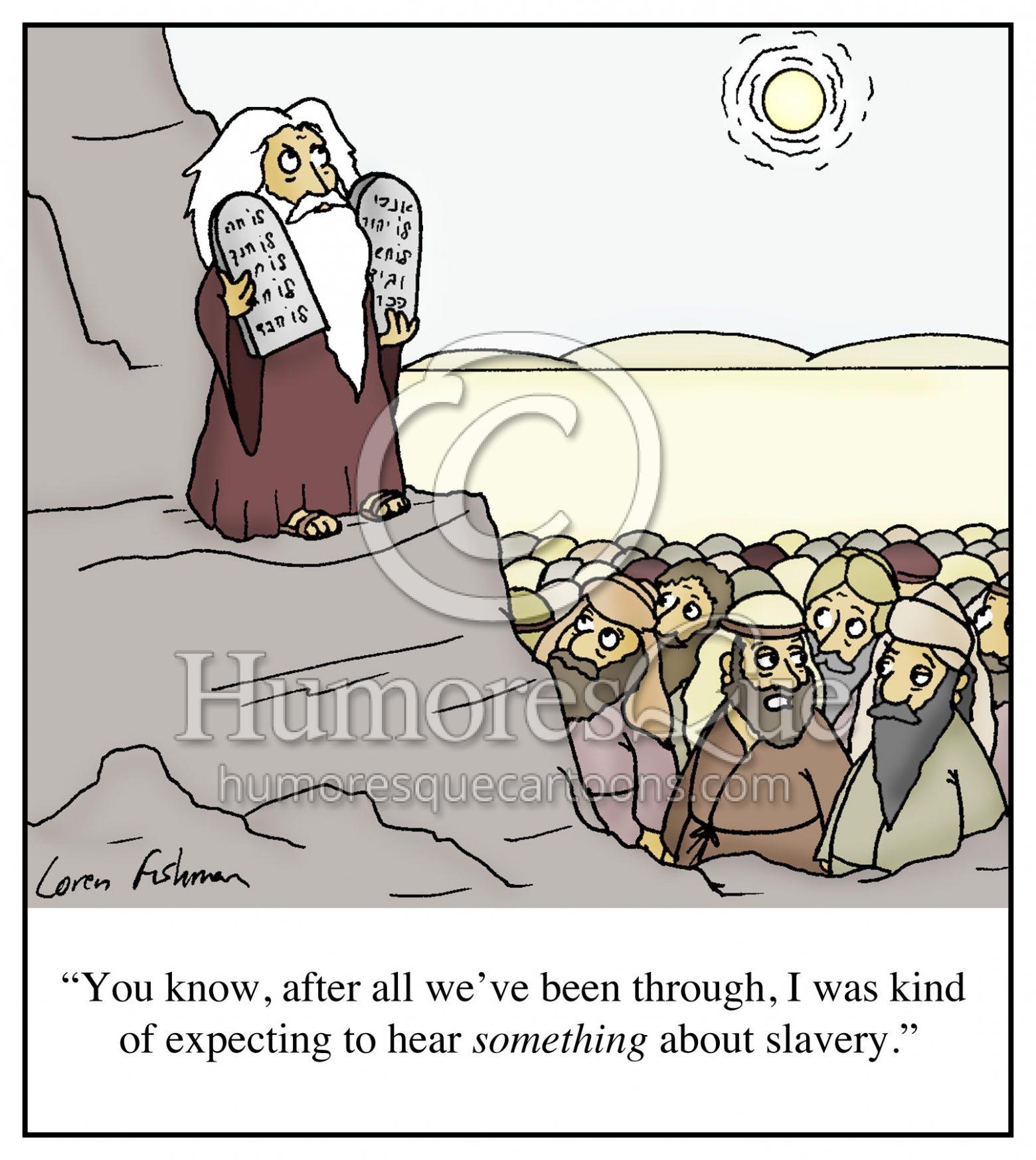 slavery in ten commandments cartoon