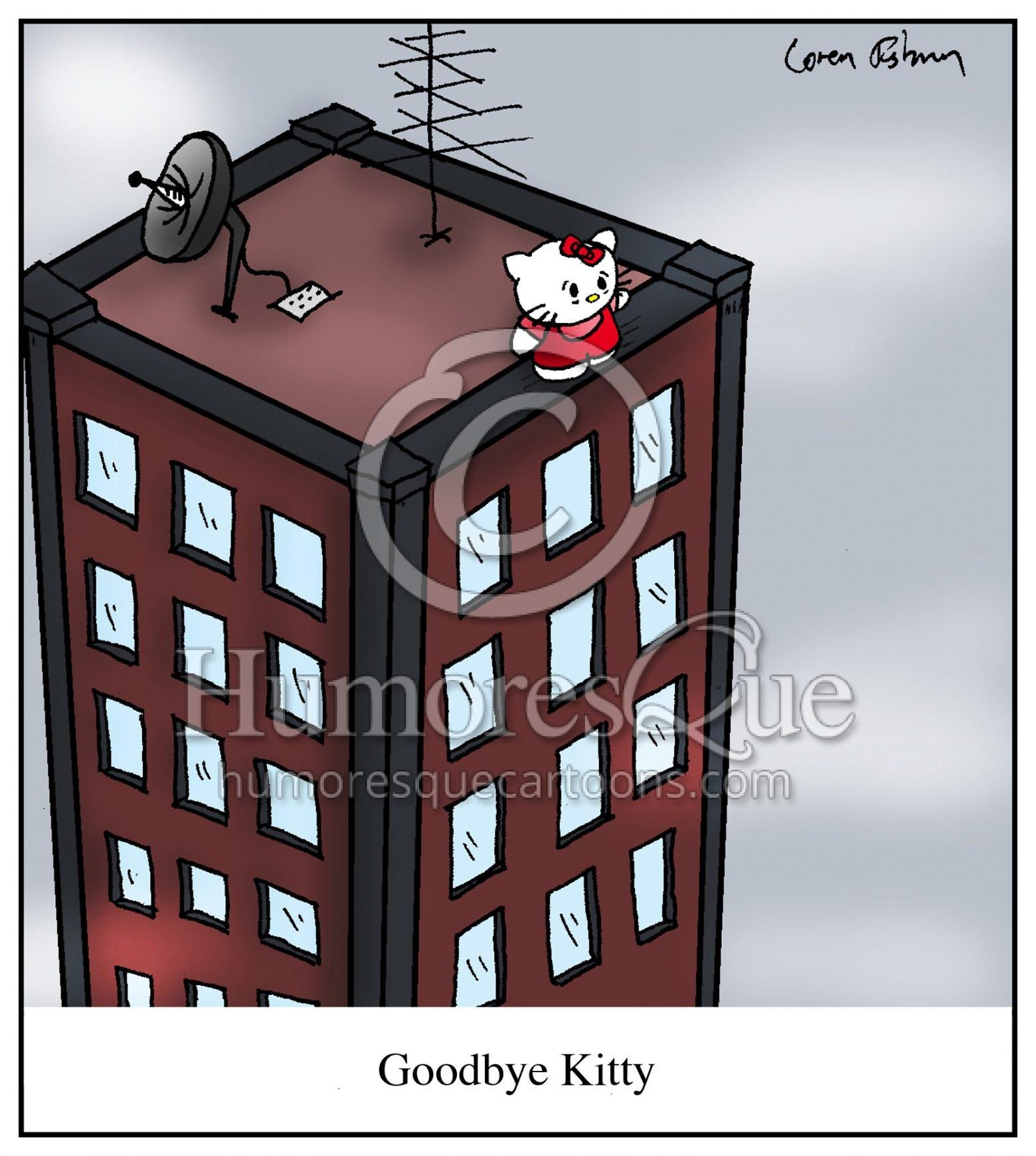 Goodbye Kitty Suicide of Hello Kitty Cartoon